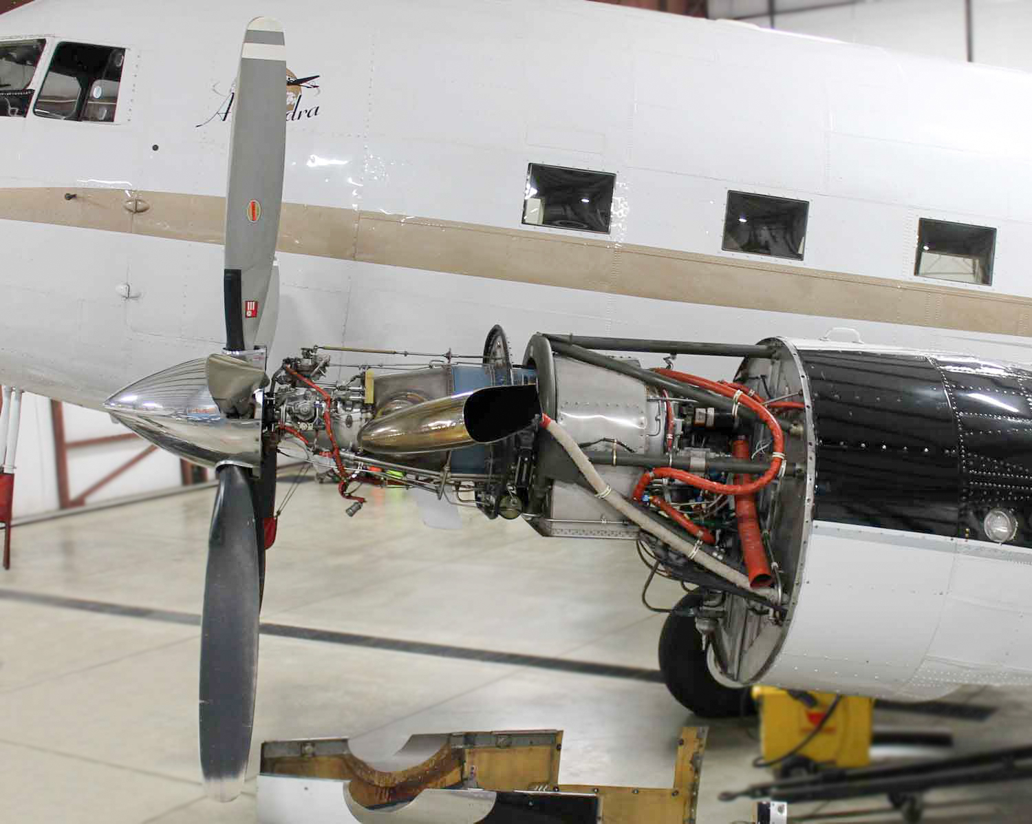 Douglas Dc 3 Conversion Details Preferred Turbine Aircraft Wiring Harness Mounting Hardware A New Main Fuel Tank With 116 Gallon Capacity Is Mounted Forward Of The Firewall Additional Tanks Increase Total To 1032 Gallons
